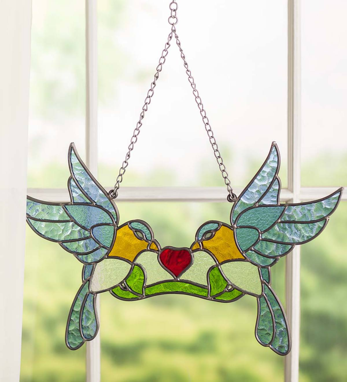 Stained Glass Lovebirds