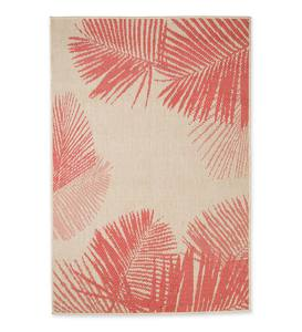 Palm Indoor/Outdoor Rug - Coral