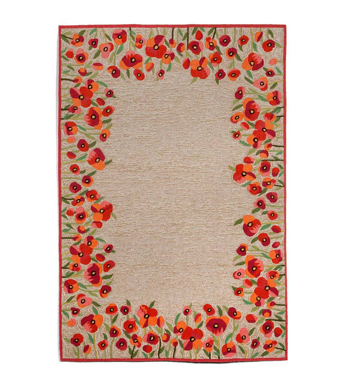 Red Poppies Border Runner, 24