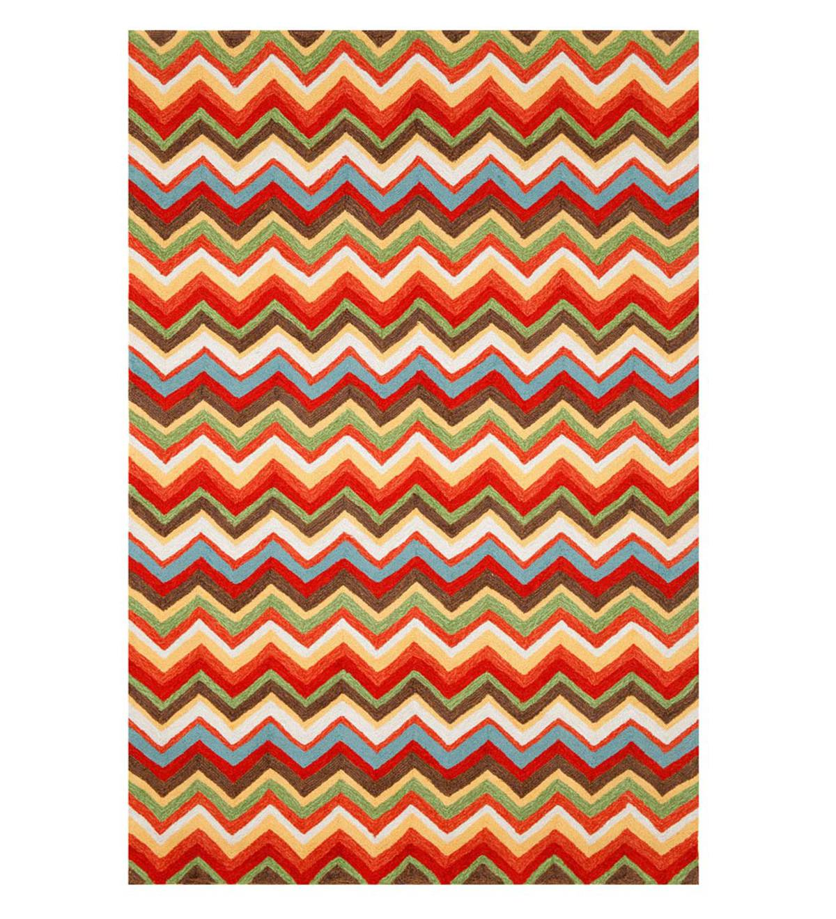 ZigZag-Pattern Graphic Accent Rug, 24