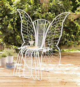 Metal Angel Wing Chair