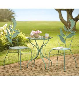 Metal Leaf-Motif Furniture