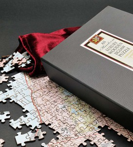 Personalized Vintage Map Jigsaw Puzzle