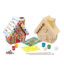 Paint-Your-Own Wooden Gingerbread House