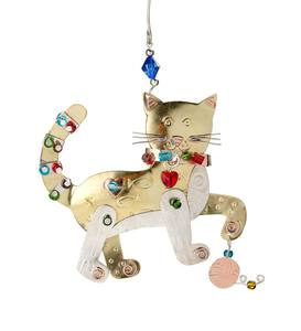 Sassy Cat Metal Ornament