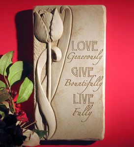Live Fully Stone Plaque by Carruth Studio