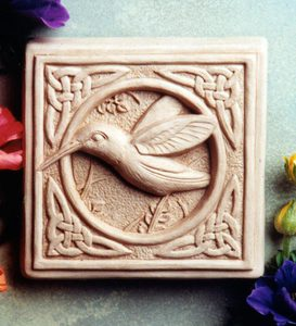 Celtic Hummingbird Stone Plaque by Carruth Studio