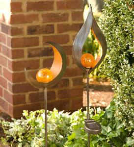 Lighted Metal Solar Garden Stake