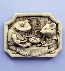 Tea for Two Stone Plaque by Carruth Studio