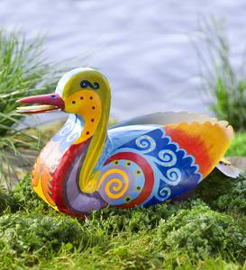 Metal Folk Art Duck
