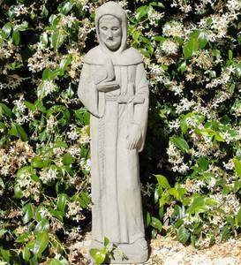 Vintage St. Francis with Cross Statue