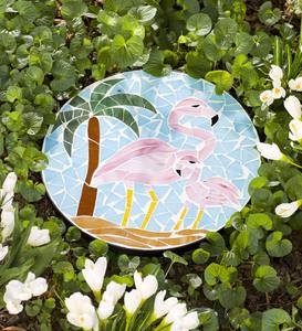 Decorative Flamingo Mosaic Stepping Stone
