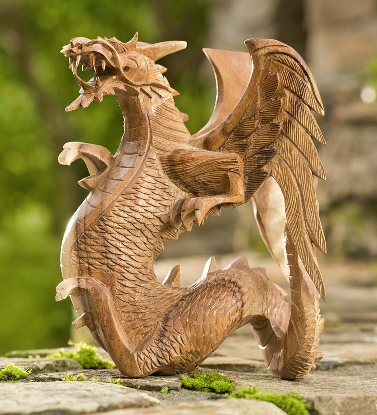 Hand-Carved Wooden Dragon