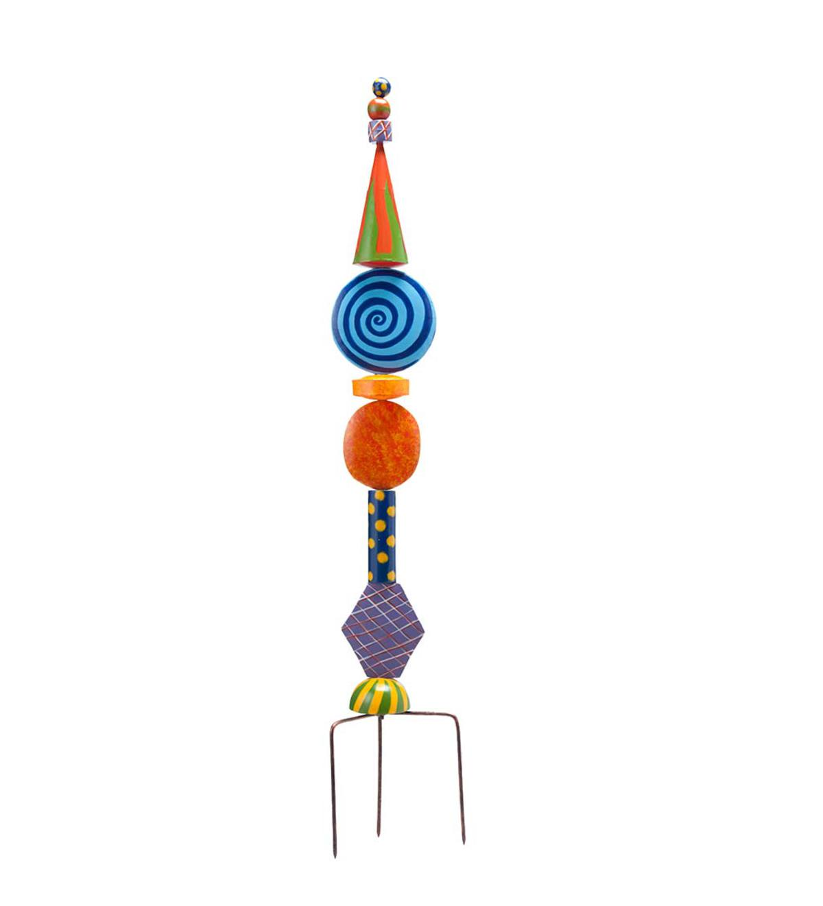 Colorful Metal Decorative Garden Stakes - Spiral