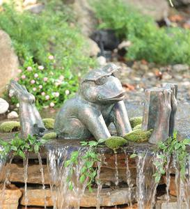 Reading Frog Garden Sculpture