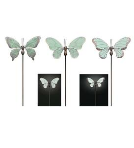 Glow-in-the-Dark Butterfly Stakes, Set of 3