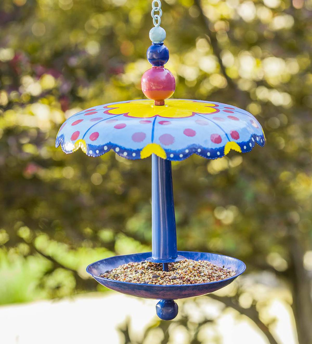 Metal Folk Art Bird Feeder