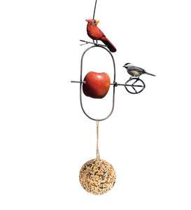 Bird Motif Fruit Spear Feeder with Seed Ball - Bluebird