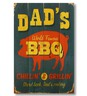 Handcrafted Dad's BBQ Wall Art by Wile E. Wood Art™