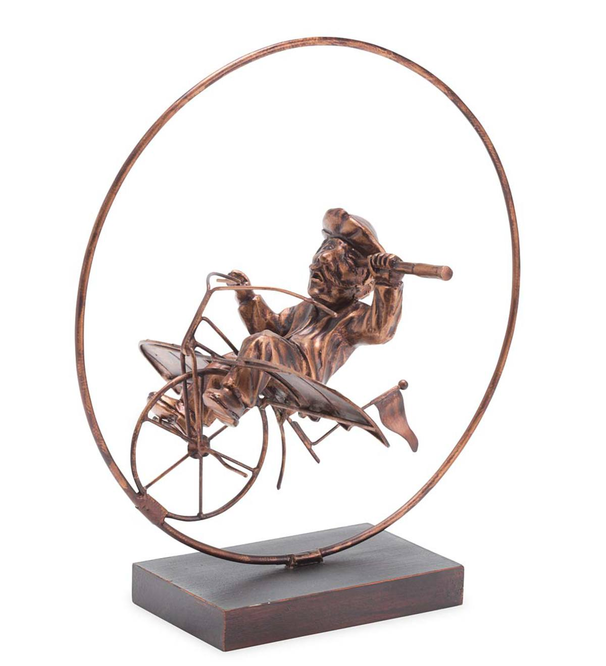Whimsical Cyclist Sculptures - Unicycle