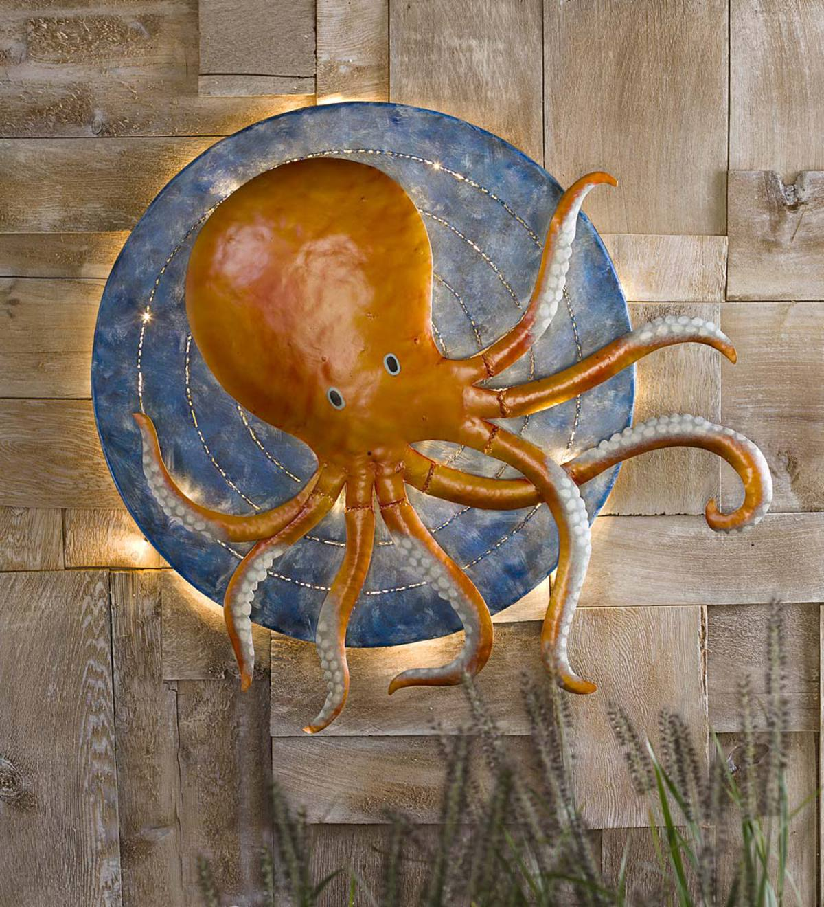 3D Octopus Metal Wall Art