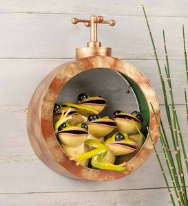 Frogs in a Pipe Wall Art