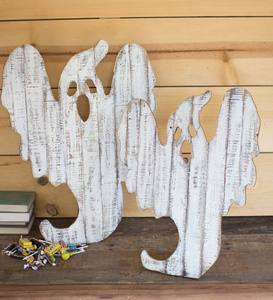 Reclaimed Wood Ghosts, Set of 2