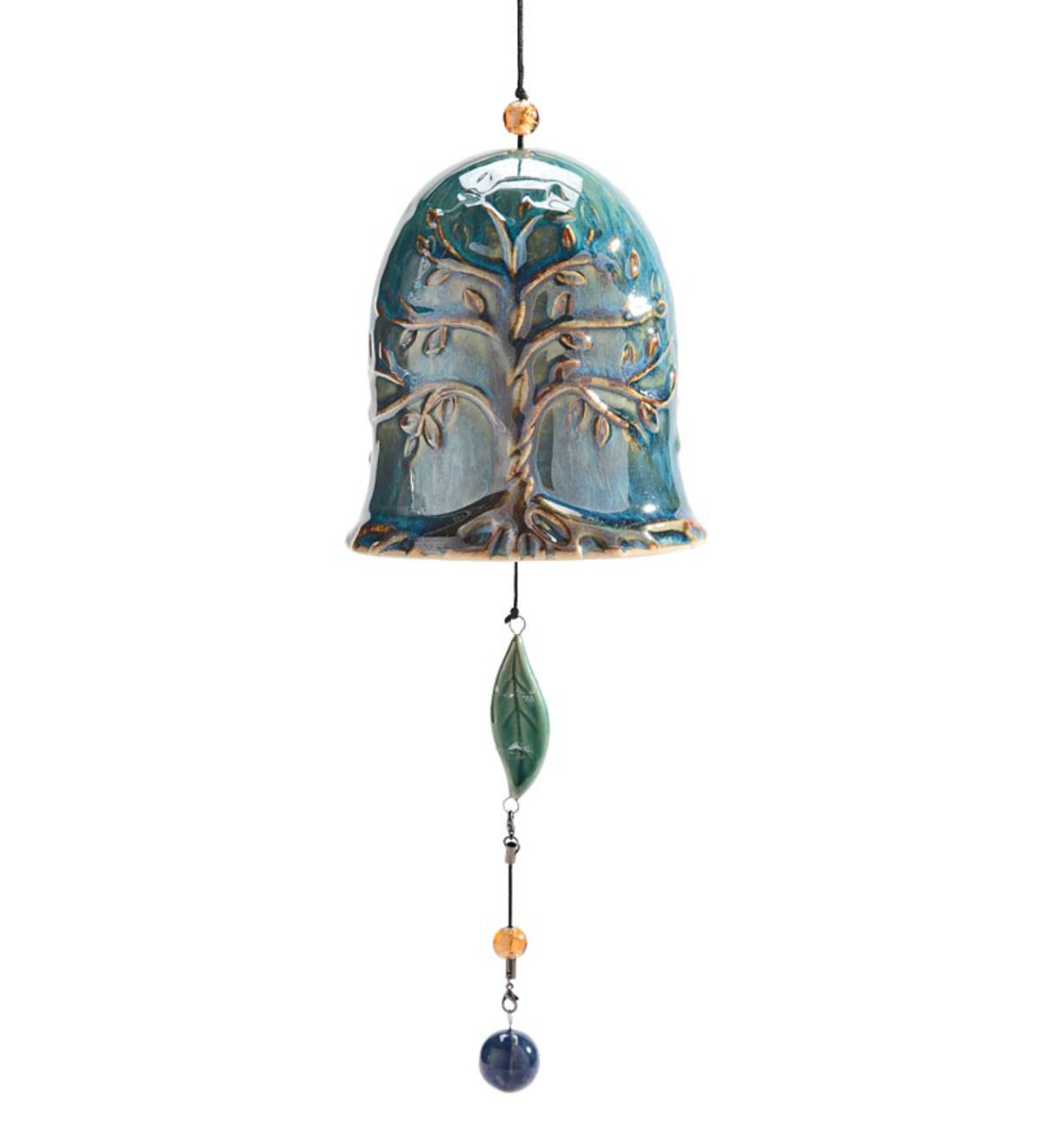 Whispering Bell Wind Chime - Blue Tree Of Life Bell