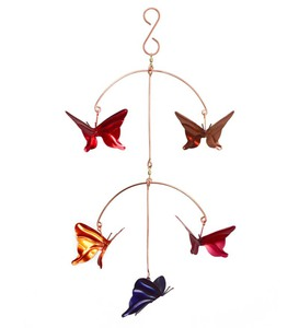 Handcrafted Copper Butterflies Mobile