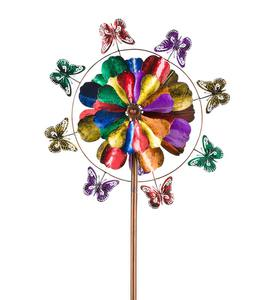 Five-Tier Flower and Butterfly Metal Wind Spinner
