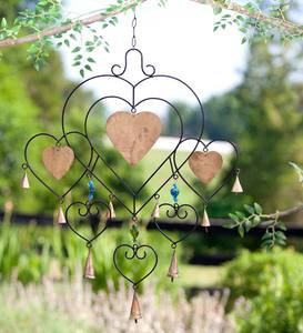 Heart and Bell Metal Wind Chime