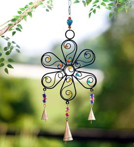 Flower and Bell Wind Chime