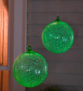 Glass Glowing Ball Garden Ornament