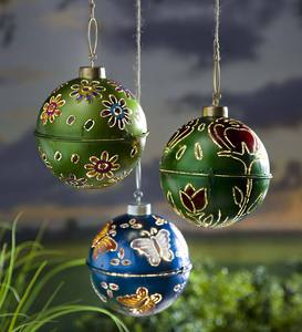 Lighted Metal Ornaments - Butterfly