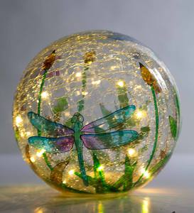 Crackle-Glass Balls, Set of 3