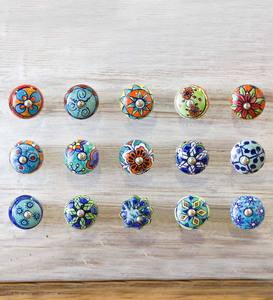 Colorful Ceramic Knobs - 1