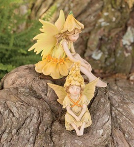 Woodland Fairy Children Figurines, Set of 2