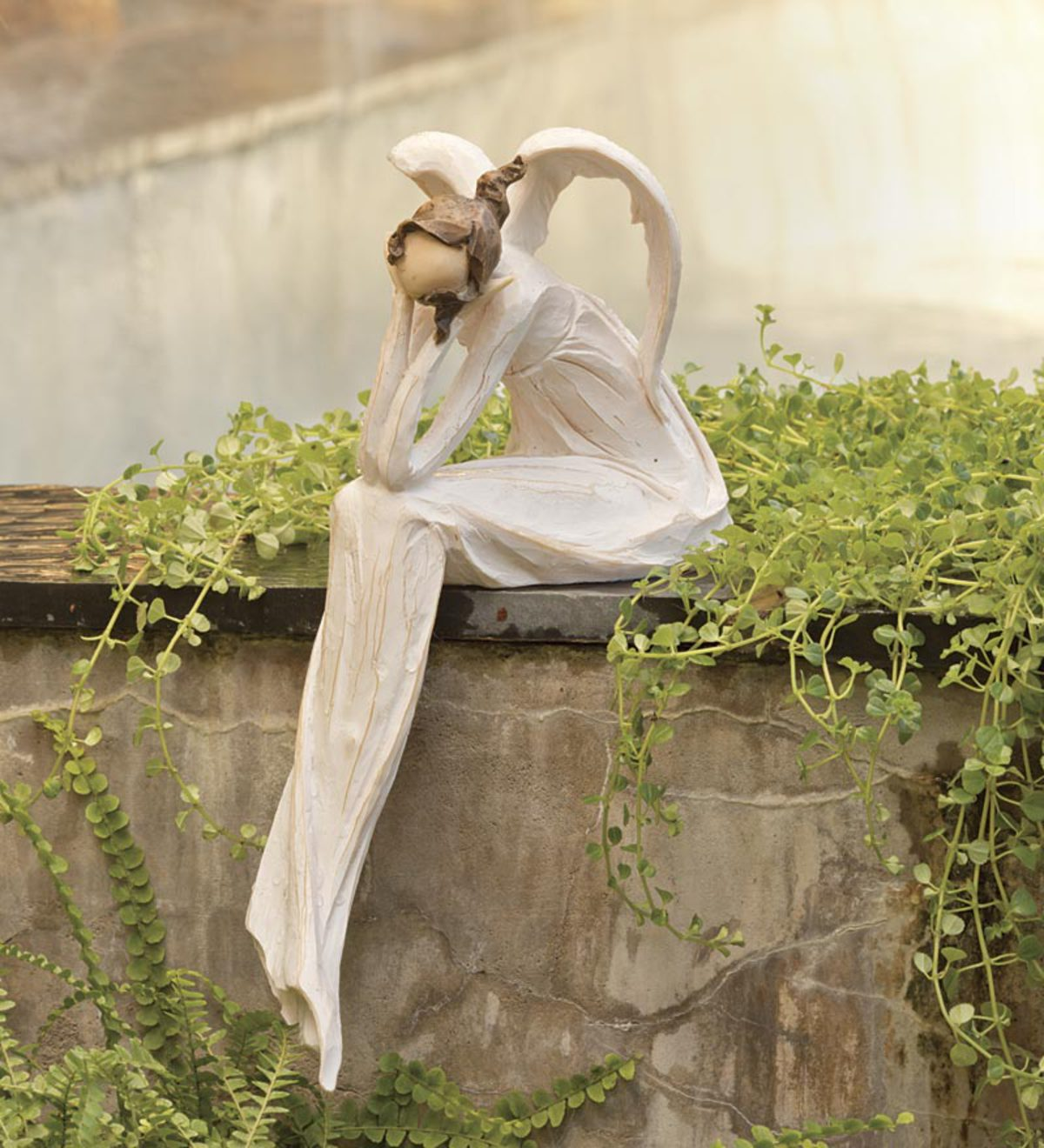 Brand-new Thinking Angel Garden Statue | Decorative Accents | Hidden and  VS02