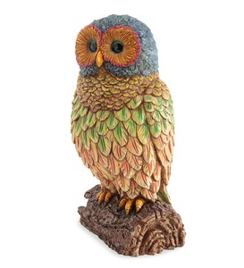 Resin Rainbow Owl Statue