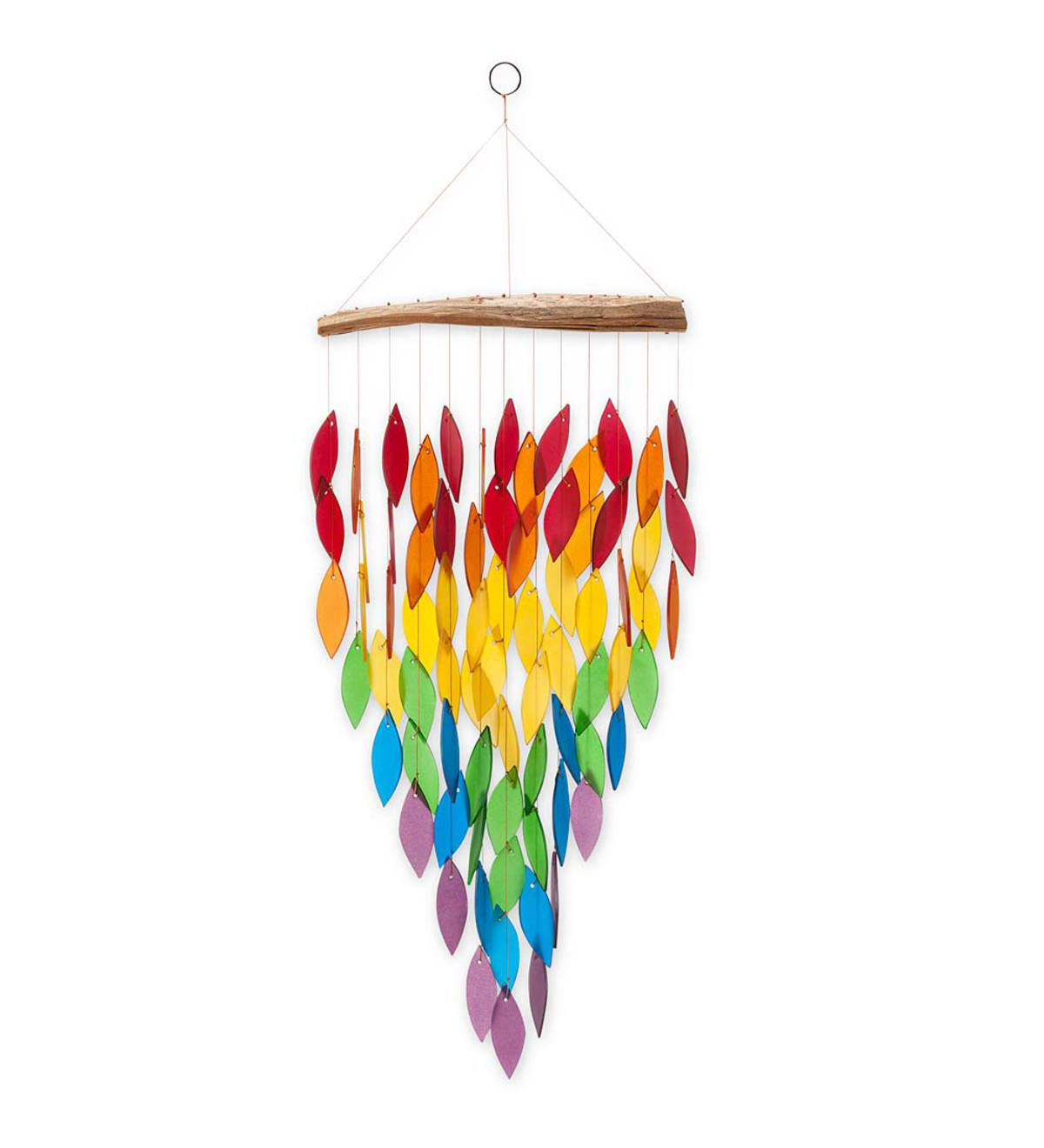 Rainbow Leaves Wind Chime
