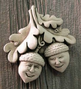 Cast Stone Nutty Couple Wall Decoration