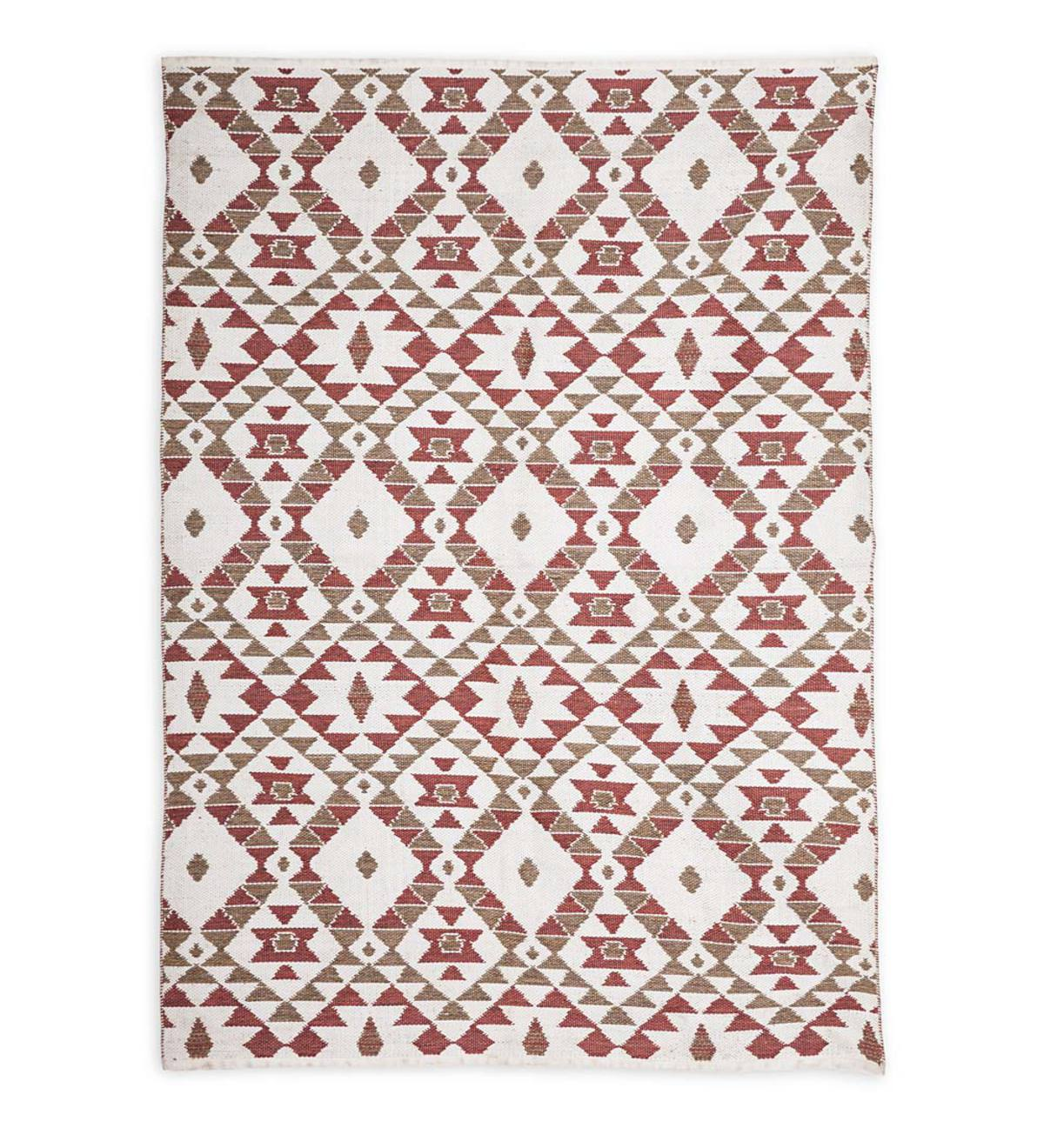 Reversible Indoor/Outdoor Diamond-Pattern Rug, 8'x10'