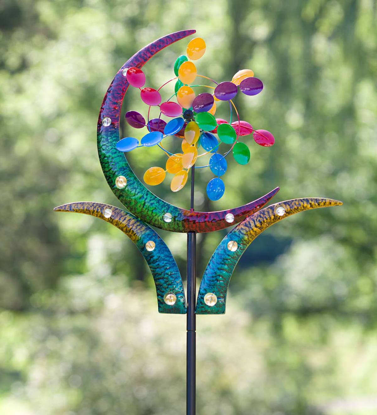 Crescent Cup Metal Wind Spinner