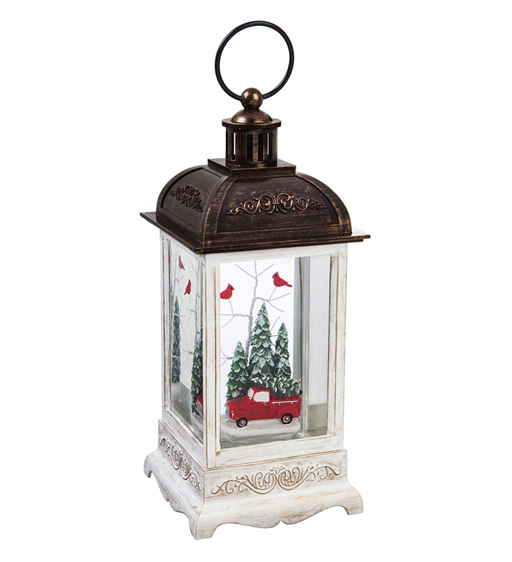 Antique Truck LED Lantern with Spinning Action Table Decor