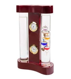 Galileo Weather Station with Fitzroy Storm Glass, Clock and Hygrometer