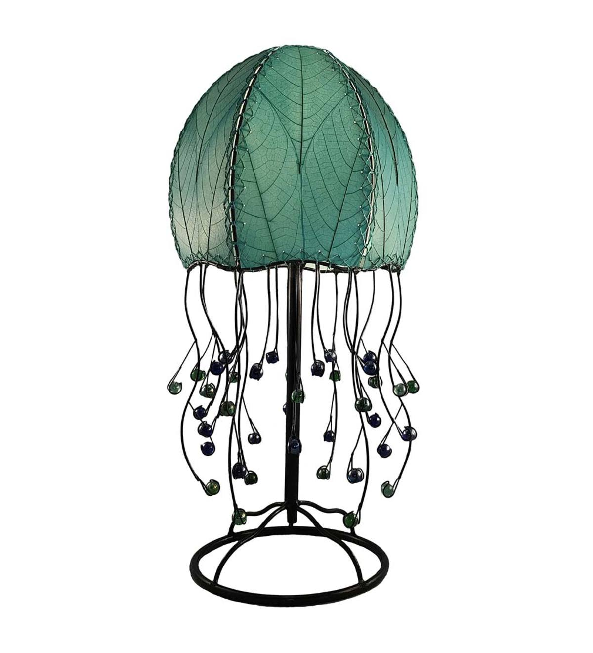 Handcrafted Jellyfish Table Lamp - Aqua