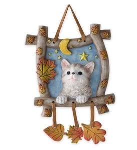 Kitten in a Window Hanging Art