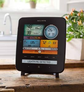 Color Weather Station with Wireless 5-in-1 Remote Wind, Rain and Lightning Sensor