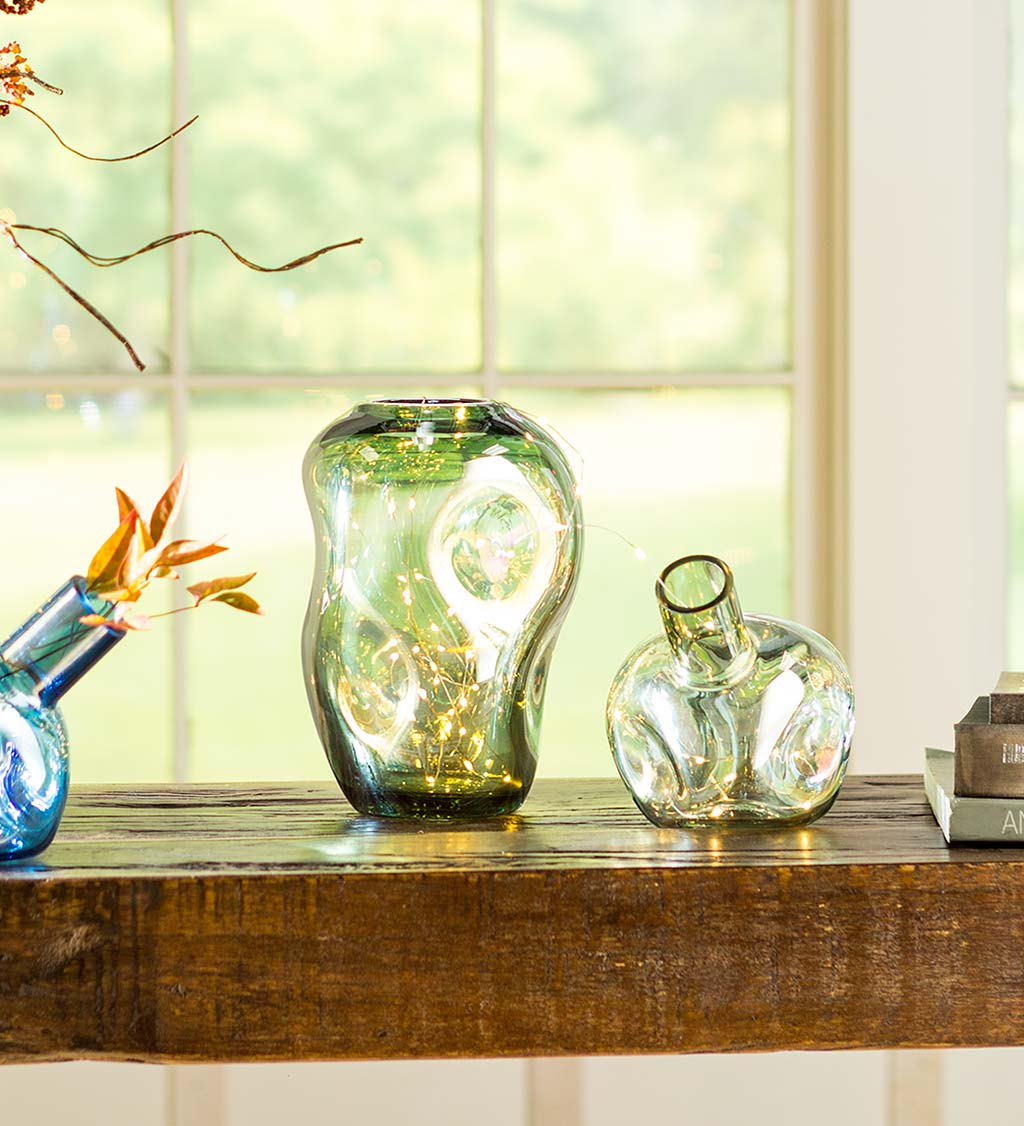 Abstract Glass Vase Set