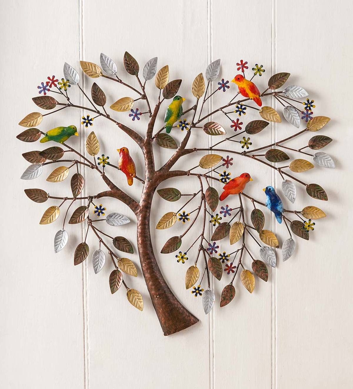 Handcrafted Heart Tree Metal Wall Art
